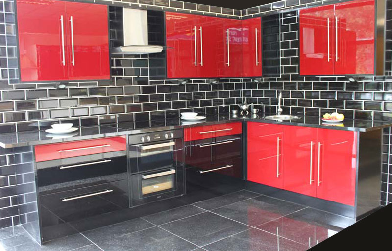 Kitchens for sale milton keynes kitchens for sale in for Black and white kitchen ideas and red